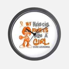 Fights Like a Girl 42.9 Leukemia Wall Clock