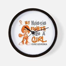 Licensed Fight Like a Girl 42.9 Leukemi Wall Clock