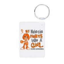 Fights Like a Girl 42.9 Leukemia Keychains