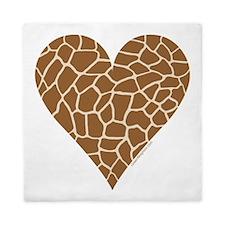 I Love Giraffes Queen Duvet