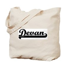 Black jersey: Devan Tote Bag