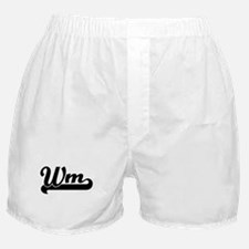 Black jersey: Wm Boxer Shorts
