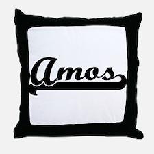 Black jersey: Amos Throw Pillow