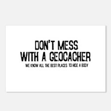 Dont Mess with a Geocacher Postcards (Package of 8