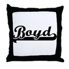 Black jersey: Boyd Throw Pillow