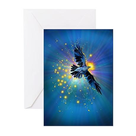 Illuminated Raven Greeting Cards (Pk of 20)