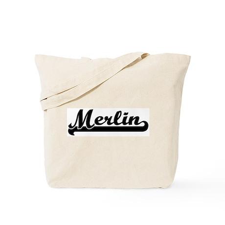 Black jersey: Merlin Tote Bag