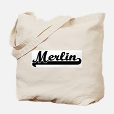 Black jersey: Merlin Tote Bag