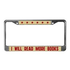 I Will Read More Books License Plate Frame