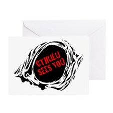 CTHULU SEES YOU Greeting Cards (Pk of 20)