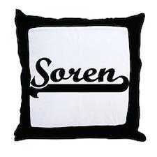 Black jersey: Soren Throw Pillow