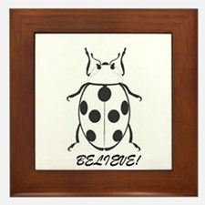 Ladybug-BELIEVE-Good Luck-Good Tidings Framed Tile