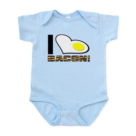 I Love Bacon Egg Funny T-Shirt Infant Bodysuit