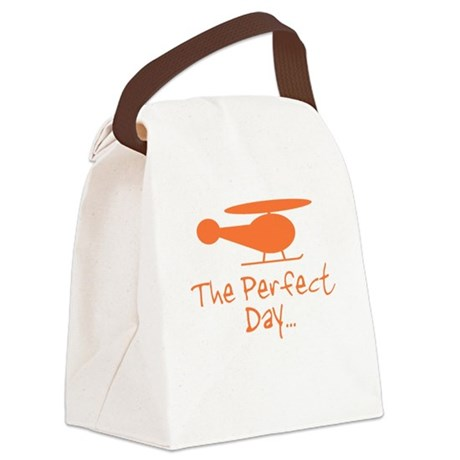 Perfect Day Helicopter Canvas Lunch Bag