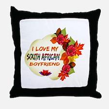 South African Boyfriend designs Throw Pillow