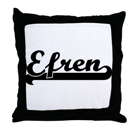 Black jersey: Efren Throw Pillow