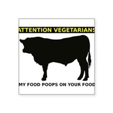 My Food Poops On Yours Funny T-Shirt Square Sticke
