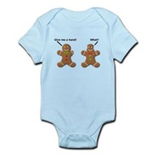 Gingerbread Lend A Hand Funny T-Shirt Infant Bodys