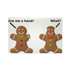 Gingerbread Lend A Hand Funny T-Shirt Rectangle Ma