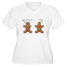 Gingerbread Lend A Hand Funny T-Shirt T-Shirt