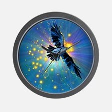 Illuminated Raven Wall Clock
