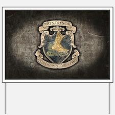 Montresor Coat Of Arms Yard Sign