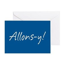 French Allons-y Greeting Card