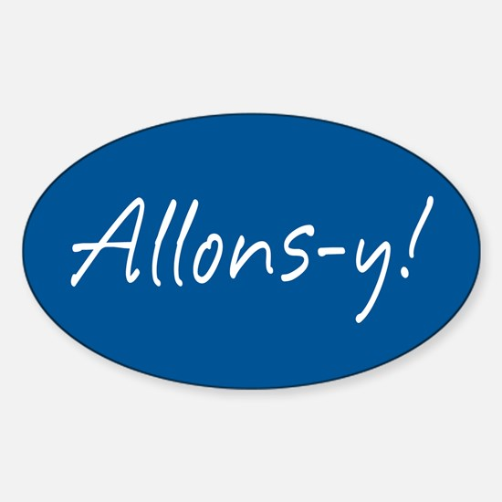 French Allons-y Sticker (Oval)