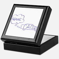 Dreams and Cares Blue Logo Keepsake Box