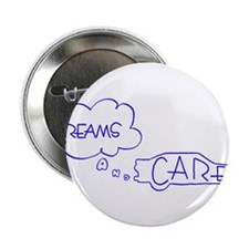 "Dreams and Cares Blue Logo 2.25"" Button"