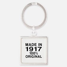 Made In 1917 Square Keychain