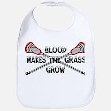 Lacrosse blood makes the grass grow Bib