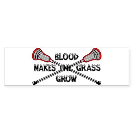 Lacrosse blood makes the grass grow Sticker (Bumpe