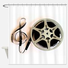 Reel and Clef Film Music Design2 Shower Curtain