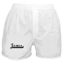 Black jersey: Jesus Boxer Shorts