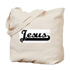 Black jersey: Jesus Tote Bag