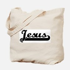 Black jersey: Jesus Tote Bag
