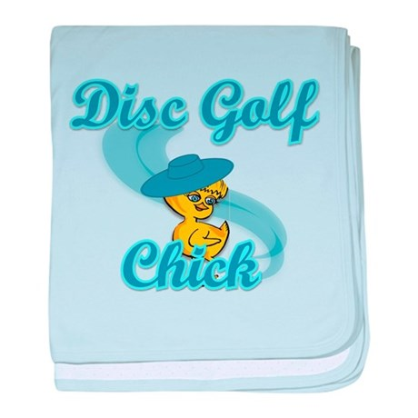 Disc Golf Chick #3 baby blanket