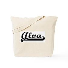 Black jersey: Alva Tote Bag