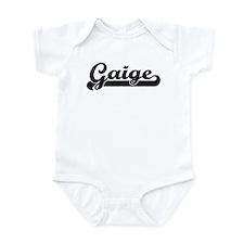 Black jersey: Gaige Infant Bodysuit