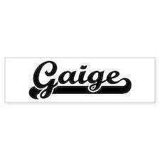 Black jersey: Gaige Bumper Bumper Sticker