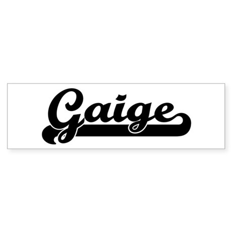 Black jersey: Gaige Bumper Sticker