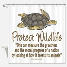 Protect Sea Turtles Shower Curtain