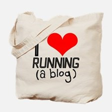 I heart running a blog Tote Bag
