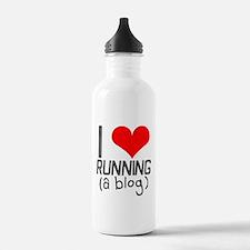I heart running a blog Water Bottle