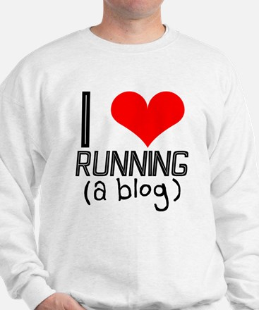 I heart running a blog Sweatshirt