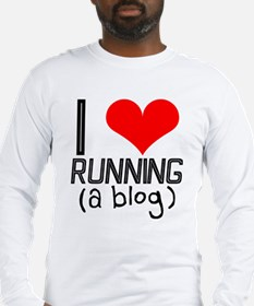 I heart running a blog Long Sleeve T-Shirt