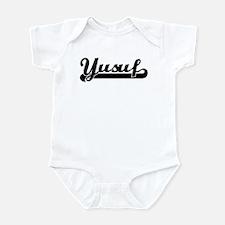 Black jersey: Yusuf Infant Bodysuit