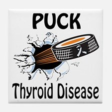 Puck Thyroid Disease Tile Coaster