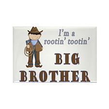 Cowboy Rootin Tootin Big Brother Rectangle Magnet